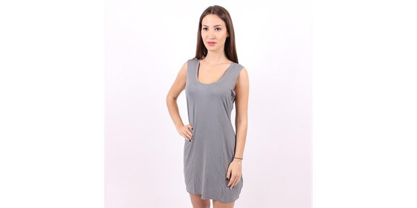 Dámske šedé viskózové šaty Enelle