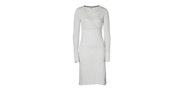 Dámske oceľovo šedé šaty Enelle