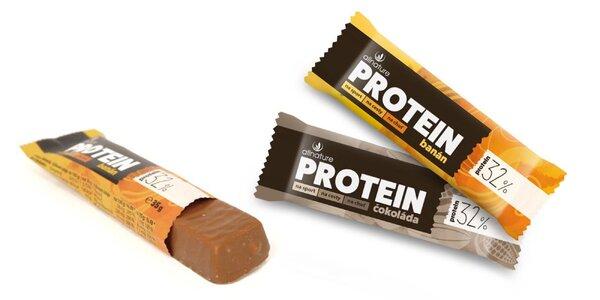 Banánová či čokoládová proteínová tyčinka