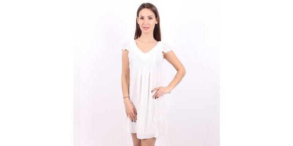 Dámske biele šaty Enelle