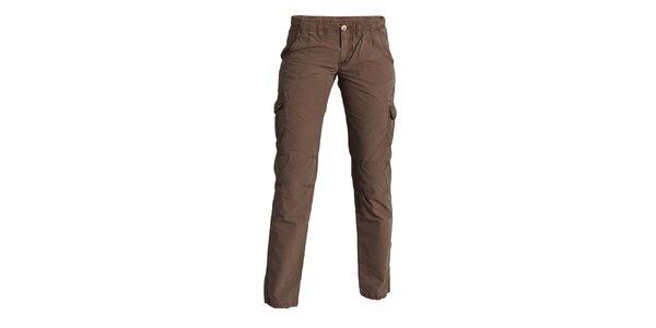 Dámske hnedé nohavice Enelle s vreckami