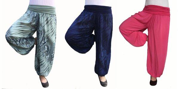 Dámske bavlnené háremové nohavice