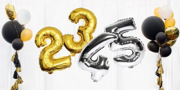 Nafukovacie balóniky v tvare čísel: dve veľkosti