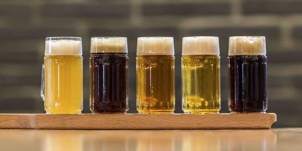 Degustácia pív vlastnej výroby v Pivovare U medveďa
