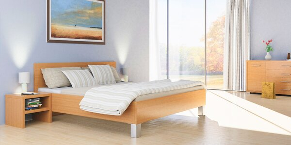 Dizajnové postele s úložným priestorom či bez