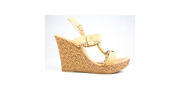 Dámske béžové sandálky Y&K