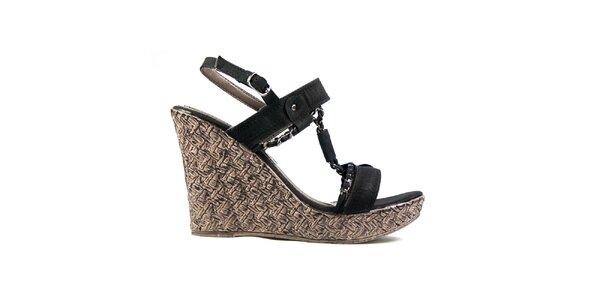 Dámske čierne sandálky Y&K