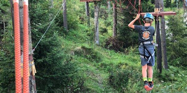 Veveričí lanový park na Štrbskom Plese