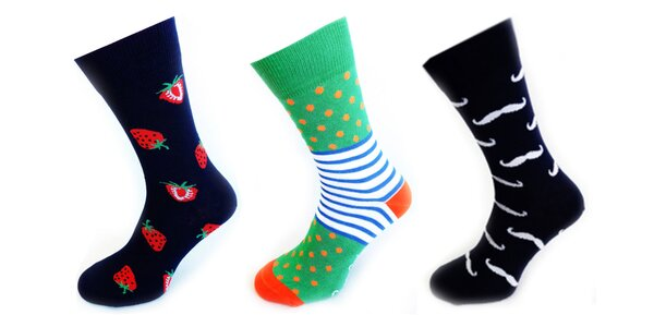Bláznivé rodinné ponožky Crazy socks