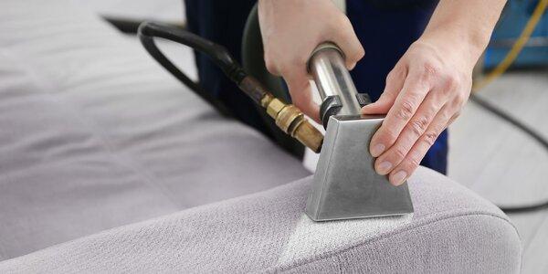 Profesionálne hĺbkové čistenie sedacej súpravy