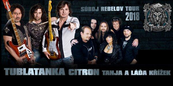 Lístky na turné skupiny Tublatanka - Súboj rebelov