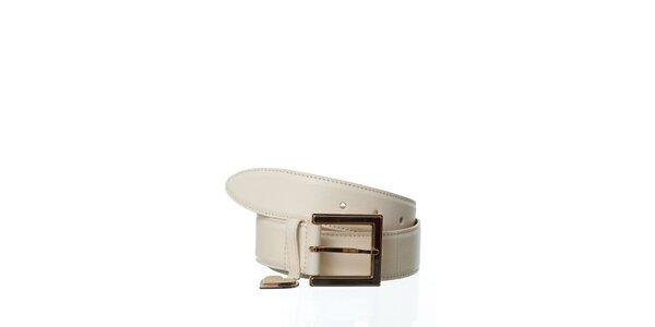 Dámsky krémový kožený opasok Dolce & Gabbana