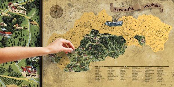 Stieracia mapa Slovenska DELUXE XL