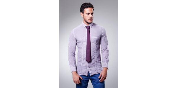 Pánska tmavo fialová hodvábna kravata Dolce & Gabbana