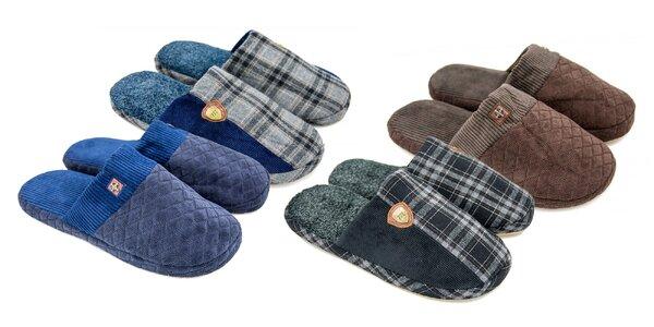 Kvalitné pánske prešívané papuče v klasickom prevedení