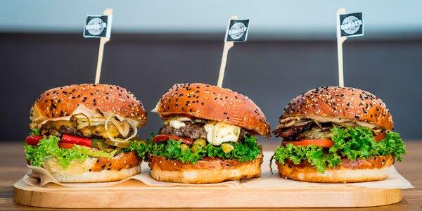 Poctivý burger podľa výberu s domácimi hranolkami