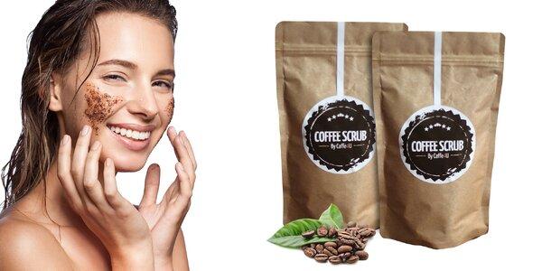 Kávový peeling pre jemnú pokožku