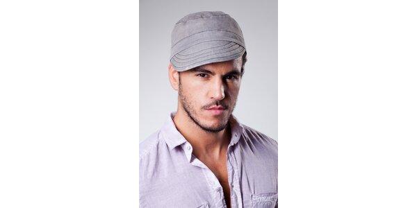 Pánska šedá prešívaná čapica Dolce & Gabbana