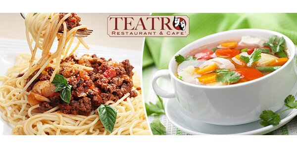 Denné menu v Teatro Restaurant & Cafe