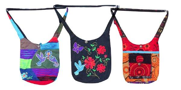Originálna handmade taška na plece z Nepálu