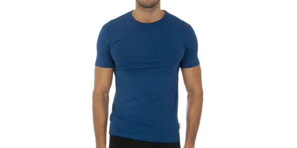 Pánske tmavo modré podvliekacie tričko Bikkembergs