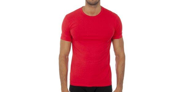 Pánske červené podvliekacie tričko Bikkembergs