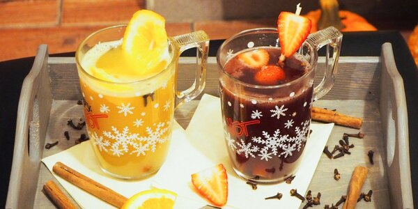Horúci punč, varené víno alebo hot apple