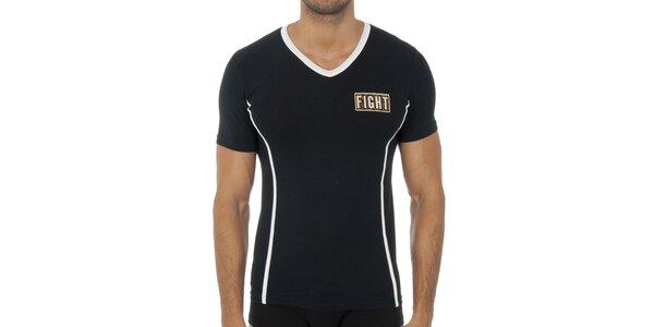 Pánske čierne podvliekacie tričko Bikkembergs