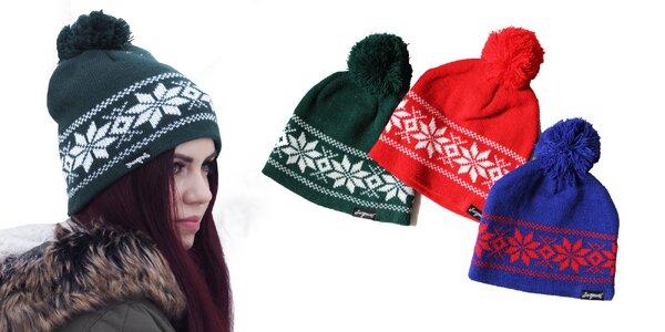 Zimná čiapka Christmas hat - severský vzor