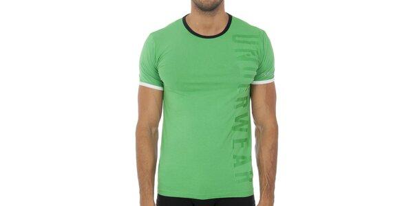 Pánske svetlo zelené podvliekacie tričko Bikkembergs