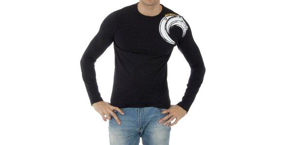 Pánske tmavo modré tričko Bikkembergs s potlačou
