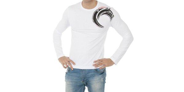 Pánske biele tričko Bikkembergs s potlačou