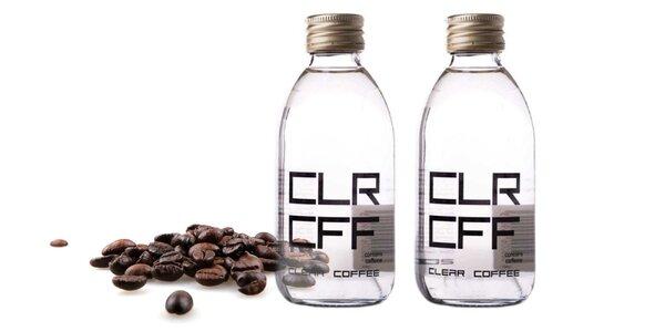 Jedinečný kávový nápoj Clear Coffee
