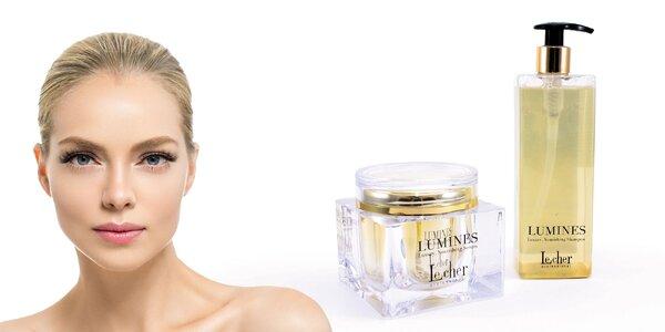 Balíček vlasovej kozmetiky s kúskami zlata
