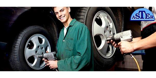Výmena letných pneumatík za zimné vrátane vyvažovania