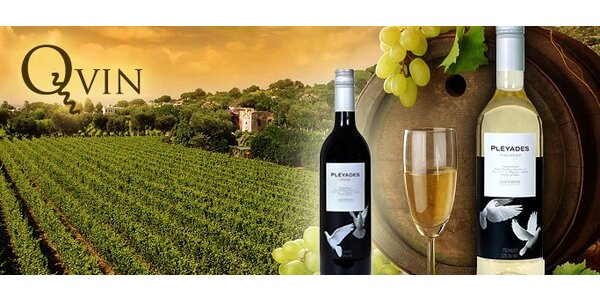 9,50 eur za dve fľaše španielskeho bieleho vína Macabeo a červeného vína Shiraz…
