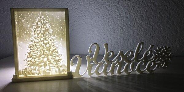 Svietnik s vlastnou 3D fotografiou Veselé Vianoce