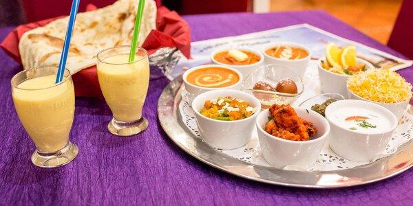 Taj Mahal tanier s indickými špecialitami pre 2 osoby