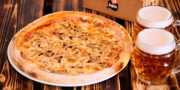 Pizza a 2x čapovaný Budvar