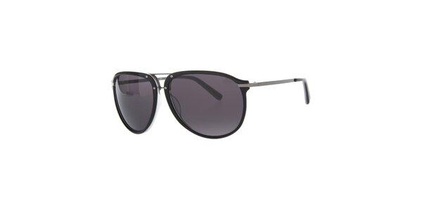 Pánske čierne slnečné okuliare Calvin Klein s kovovými pacičkami