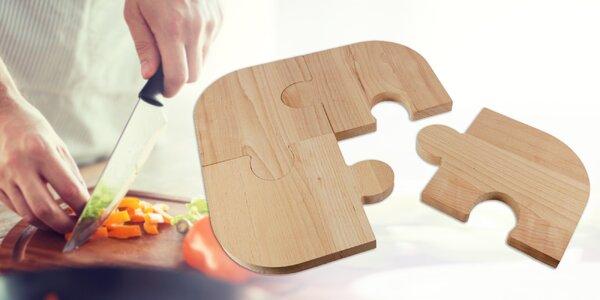 Variabilná doska na krájania v tvare puzzle
