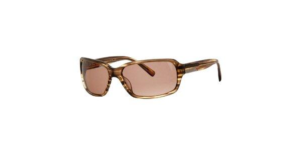 Pánske hnedé žihané slnečné okuliare Calvin Klein