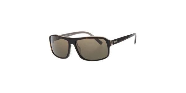 Pánske tmavo hnedé slnečné okuliare Calvin Klein