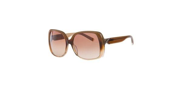 Dámske hnedé slnečné okuliare Calvin Klein
