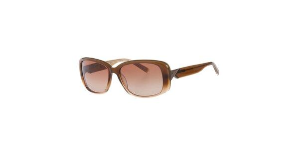 Dámske svetlo hnedé slnečné okuliare Calvin Klein