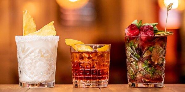 3 x Cocktail podľa vlastného výberu