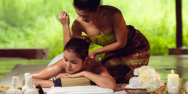 Thajská či štvorručná masáž i lávové kamene