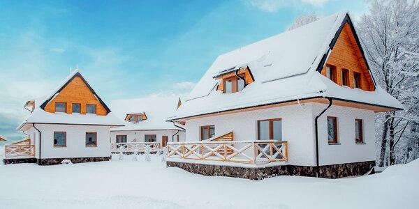 Ski pobyt pre 4 -7 ľudí v nových Chatách na svahu v Kremnických vrchoch