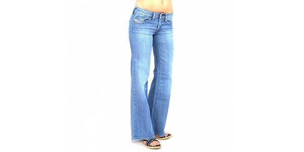 Dámske svetlo široké modré džínsy Diesel