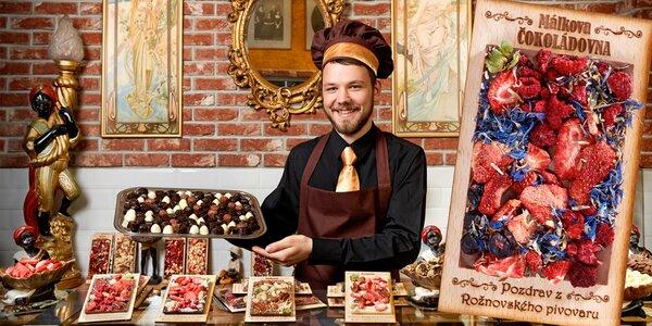 Ručne robené Málkove čokolády s venovaním